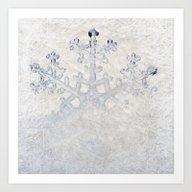 Snowflakes Frozen Freeze Art Print