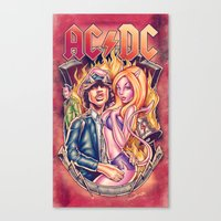 Highway to ACDC Canvas Print
