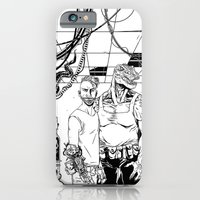 iPhone Cases featuring The Machinists - Black & white variant by Lokhaan