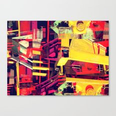 Industrial Abstract Red Canvas Print