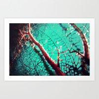 Coral me pretty Art Print