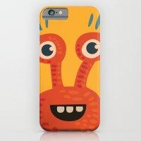 Funny Orange Happy Creature iPhone 6 Slim Case
