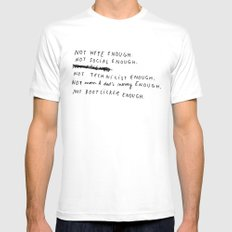 NOT ENOUGH Mens Fitted Tee White SMALL