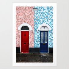 Red vs Blue 02 Art Print