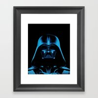 The Dark Vader, Star Wars Tribute Framed Art Print