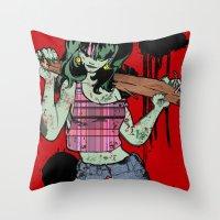 Dead Jenny Throw Pillow