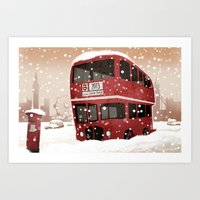 london Art Prints featuring London   by Martynas Juchnevicius