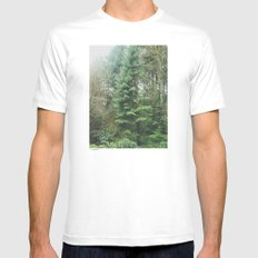 With the Trees Mens Fitted Tee SMALL White