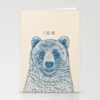 Bear (Ivory) Stationery Cards
