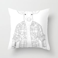 What the Deer ? Throw Pillow