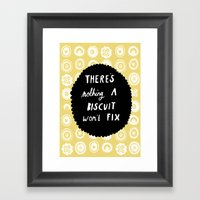 There's Nothing A Biscui… Framed Art Print