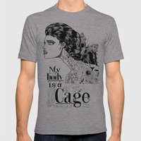 My body is a cage Mens Fitted Tee Athletic Grey SMALL