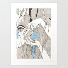 Small blue thing Art Print