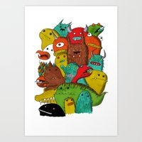 Mile-End Monsters Art Print