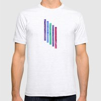 Peacock Stripes Mens Fitted Tee Ash Grey SMALL