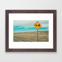 Yup, You're In Rural Mon… Framed Art Print
