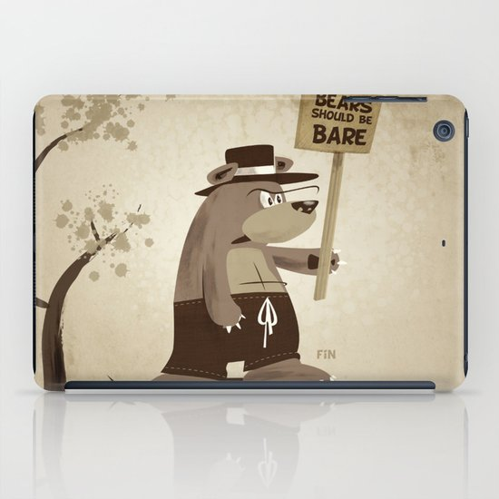 Bears want to be bare iPad Case