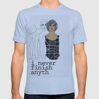 I never finish anyth Mens Fitted Tee Athletic Blue SMALL