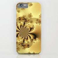 Silky Golden Fractal iPhone 6 Slim Case