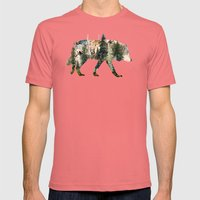 Wolf Is The Pride Of Nat… Mens Fitted Tee Pomegranate SMALL