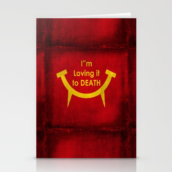 McViper the zombie and vampire fast food chain, Bloody good food is our motto! Stationery Card