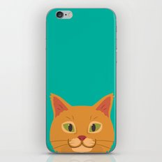 Peeking Cat iPhone & iPod Skin