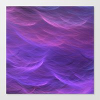 Pink And Purple Soft Wav… Canvas Print