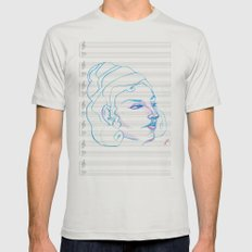 Music to My Eyes Mens Fitted Tee Silver SMALL