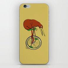 Kiwi Riding A Unicycle iPhone & iPod Skin