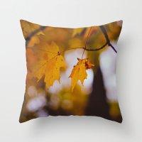October Orange Throw Pillow
