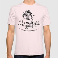 STRANDED IN PARADISE Mens Fitted Tee Light Pink SMALL