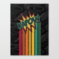 Kapow [Rainbow] Canvas Print