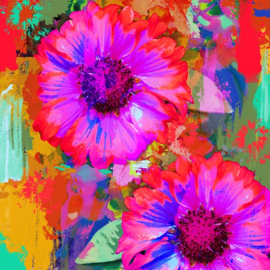 The Painter's Flowers Art Print