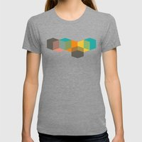 Color Study Cubes Womens Fitted Tee Tri-Grey SMALL