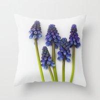 Muscari - Blue Grape - J… Throw Pillow