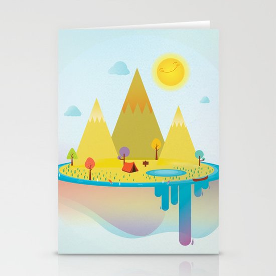 Camping Outdoors Stationery Card