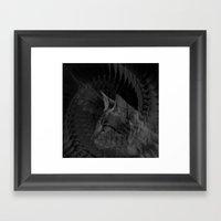 Cat Fraktal Framed Art Print