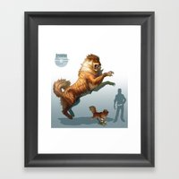 Pokemon-Arcanine Framed Art Print