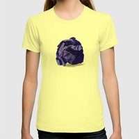 Waste Of Space Womens Fitted Tee Lemon SMALL