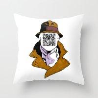 Inkman Throw Pillow