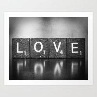 Love is a Beautiful Word - a fine art photograph Art Print