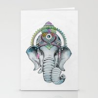 Ganesha Watercolor Stationery Cards