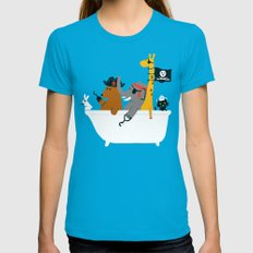 Everybody Wants To Be Th… Womens Fitted Tee Teal SMALL