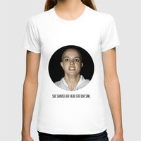 She Shaved Her Head For … Womens Fitted Tee White SMALL