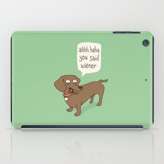 Immature Dachshund iPad Case
