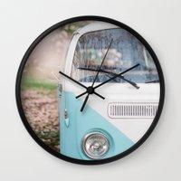 Vintage Volkswagen Van Wall Clock