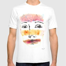 Head Shot #3 Mens Fitted Tee SMALL White