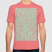 British Mosaic Mint Mens Fitted Tee Pomegranate SMALL