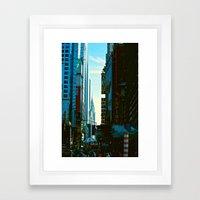 Busy City Framed Art Print