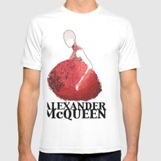 Alexander McQueen White Mens Fitted Tee SMALL